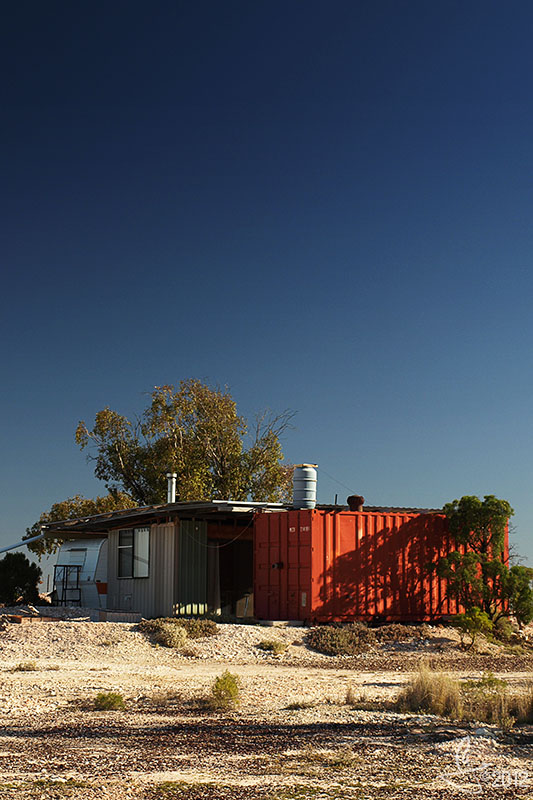 Life in a Cargo Container: Lightning Ridge, NSW.