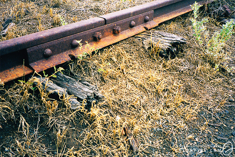Close up of some rails and sleepers.