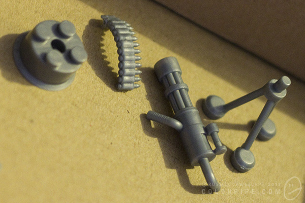 These pieces will be handy if you ever need to build a tripod-mounted gun cylinder...thing.