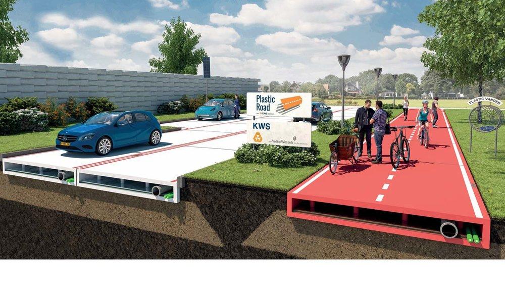 Rotterdam dostane cestu z plastu Výstavba ciest je dnes základom rozvoja regiónu. V Holandsku sa namiesto tradičného asfaltu rozhodli použiť na stavbu ciest umelú hmotu. Presnejšie PET fľaše. Inžinieri tvrdia, že takéto cesty sú výhodnejšie ako tie asfaltové a navyše pomôžu svetu s odpadovým hospodárstvom a recykláciou.
