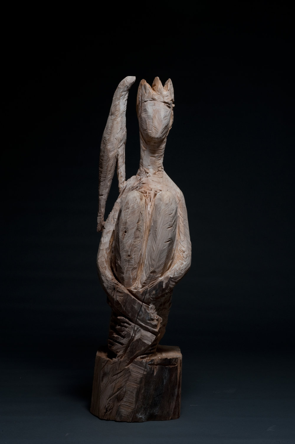 Auf der Schulter, Birne, 160x50x45 cm, 2011