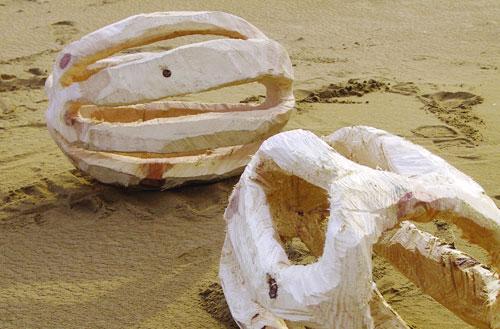 Hüllen, Pinie, 60x40x43 cm, 2003