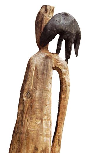 Zusammen, Schwemmholz, 160x35x40 cm, 2001