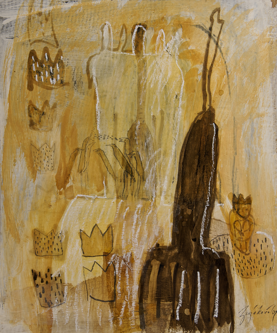 Tempel, Mischtechnik auf Papier, 50x70 cm, 2010
