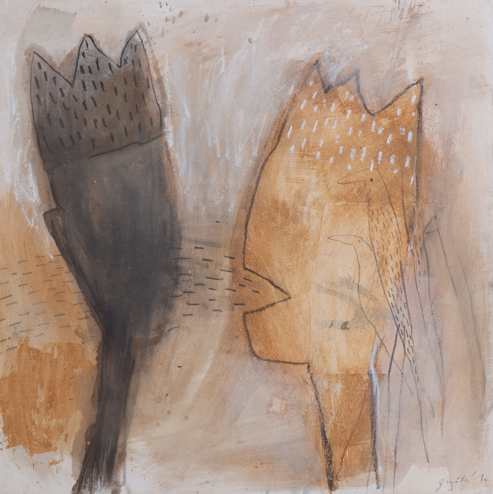 Dialog, Mischtechnik auf Leinwand, 100x100 cm, 2012