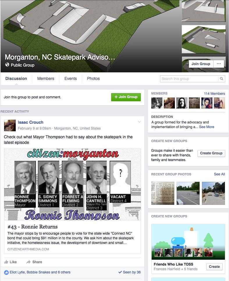 Morganton, NC Skatepark Advisory Committee