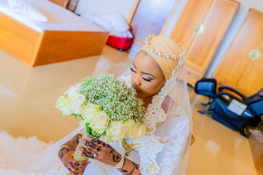 Nigerian Nikkah Wedding Bride Photo At Oriental Hotel, Lagos