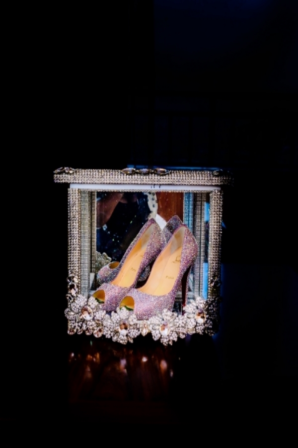 Wedding Details - Bride Shoe By angelasfantasycreationsGetting Ready Picture At Oriental Hotel, Lagos By SpicyInc Studio - Nigerian Wedding Photographers