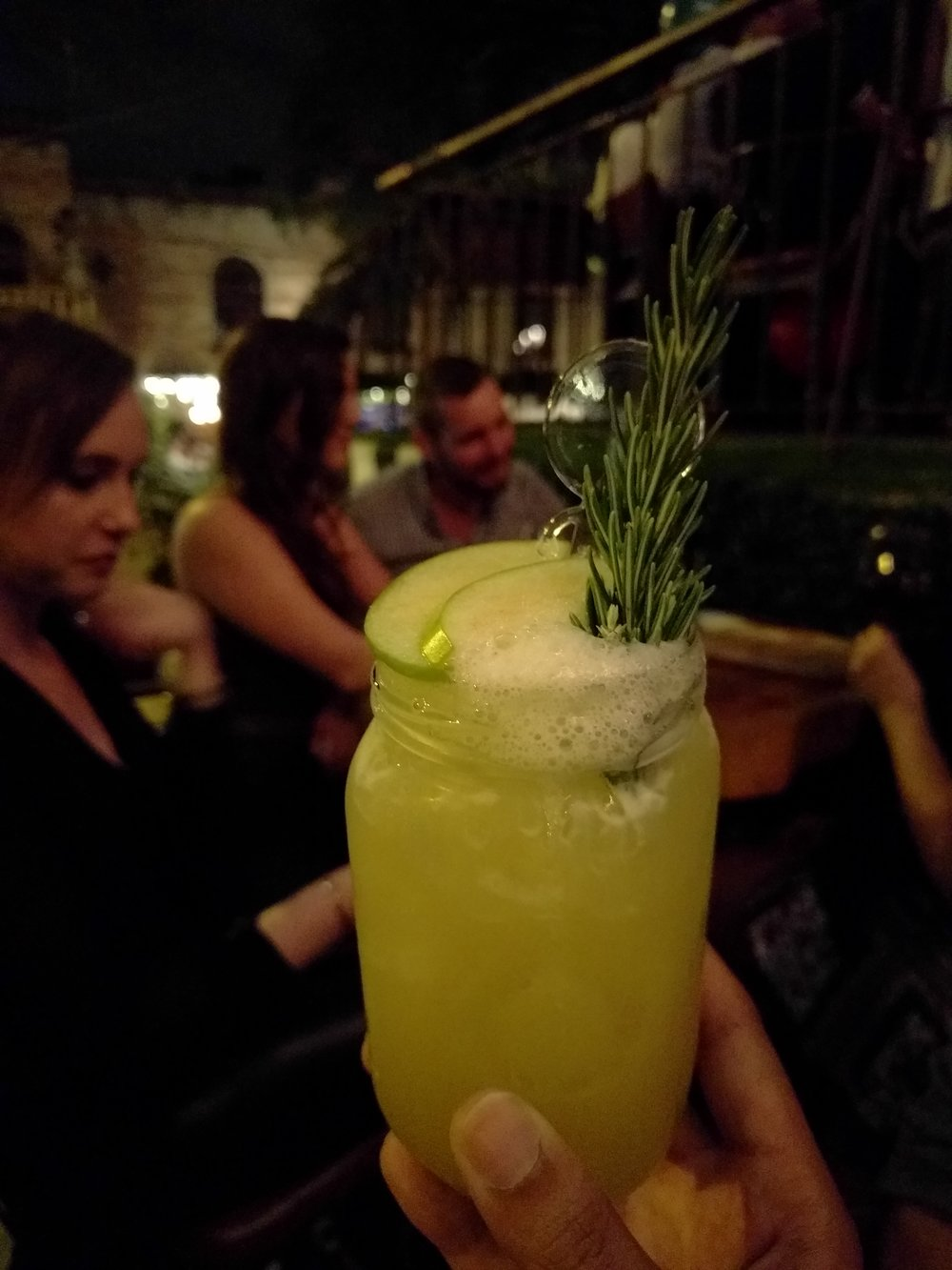 A Green Apple Whisky cocktail at 37Park