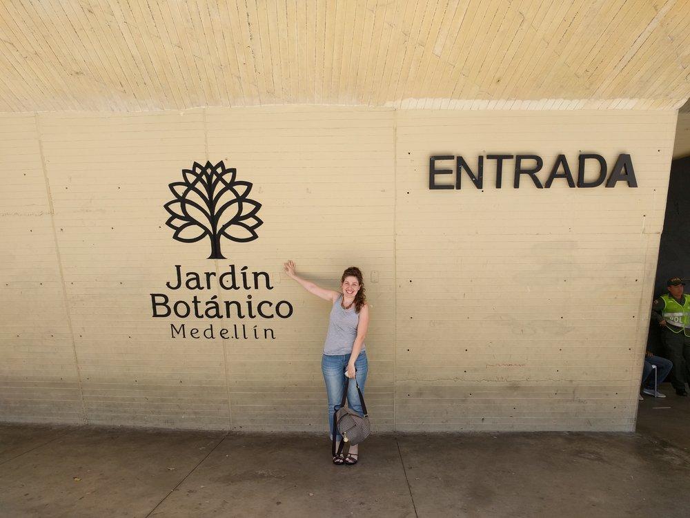 Entrance of the  Botanical Gardens in Medellin