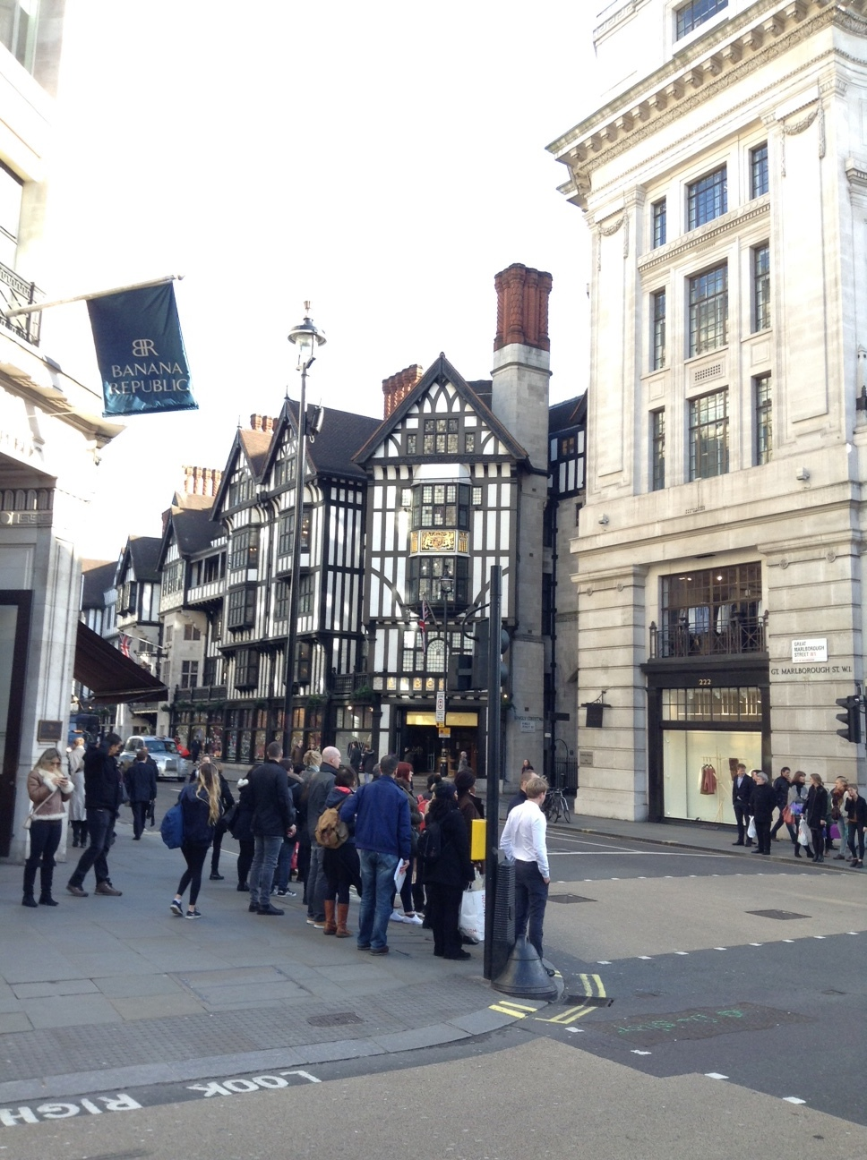 Liberty of London, a beautiful half timber building tucked off of Regent Street.