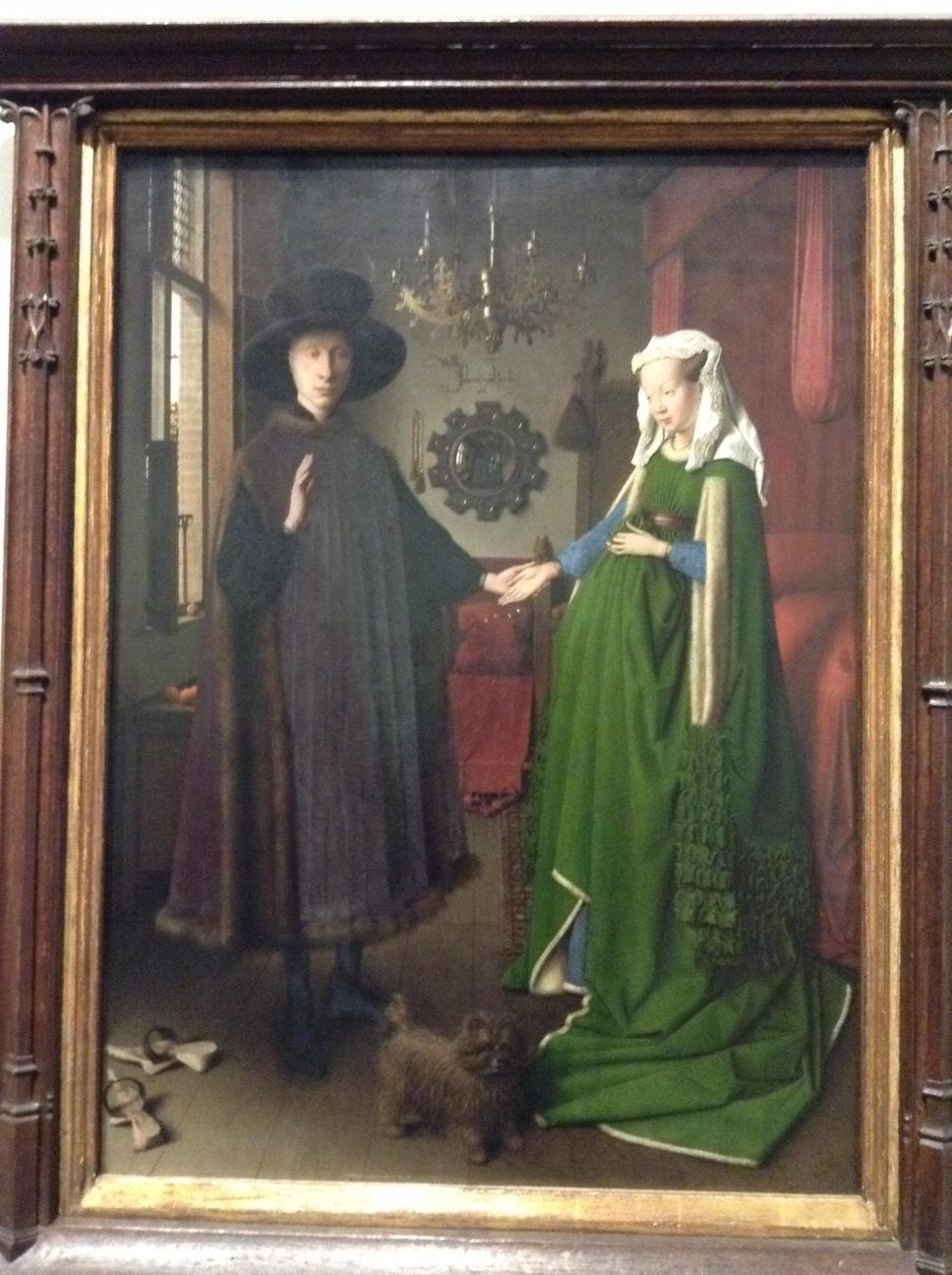 Van Eyck's Arnolfini Wedding.