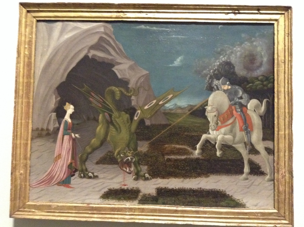The darling St George and the Dragon by Ucello.