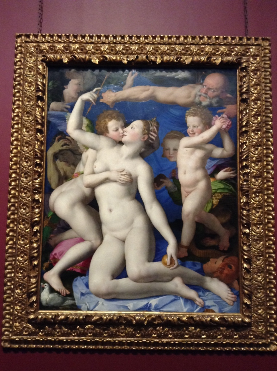 Bronzino's Venus and Cupid. Delish.