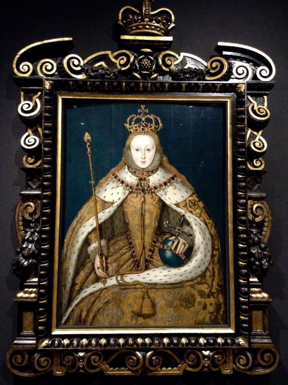 My homegirl, Elizabeth I, in the National Portrait Gallery. Go tudors!