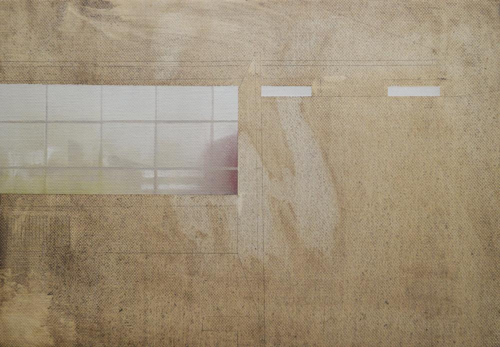 "Andrew Smaldone, ""Studio #1""15cm x 23 cm, Olio su lino , 2014."