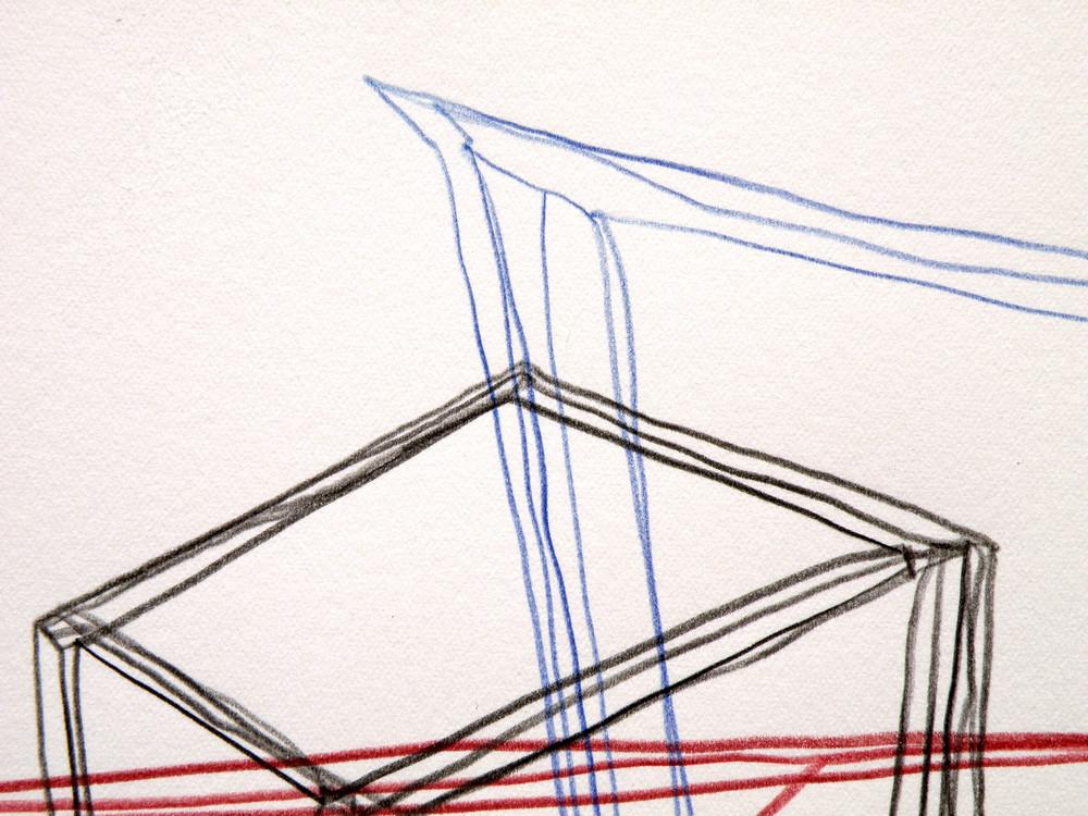 """Stefano Loria, """"Turro"""", matita su carta di incisione, 2015"""