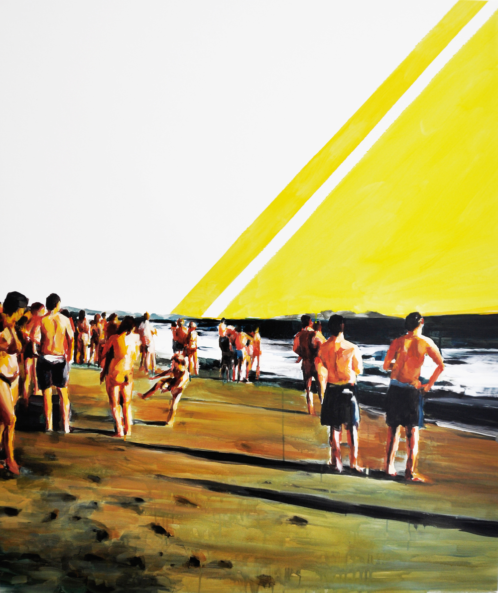 Foschini-Iacomelli, Beach, 2011, smalto su tela, 121x102 cm