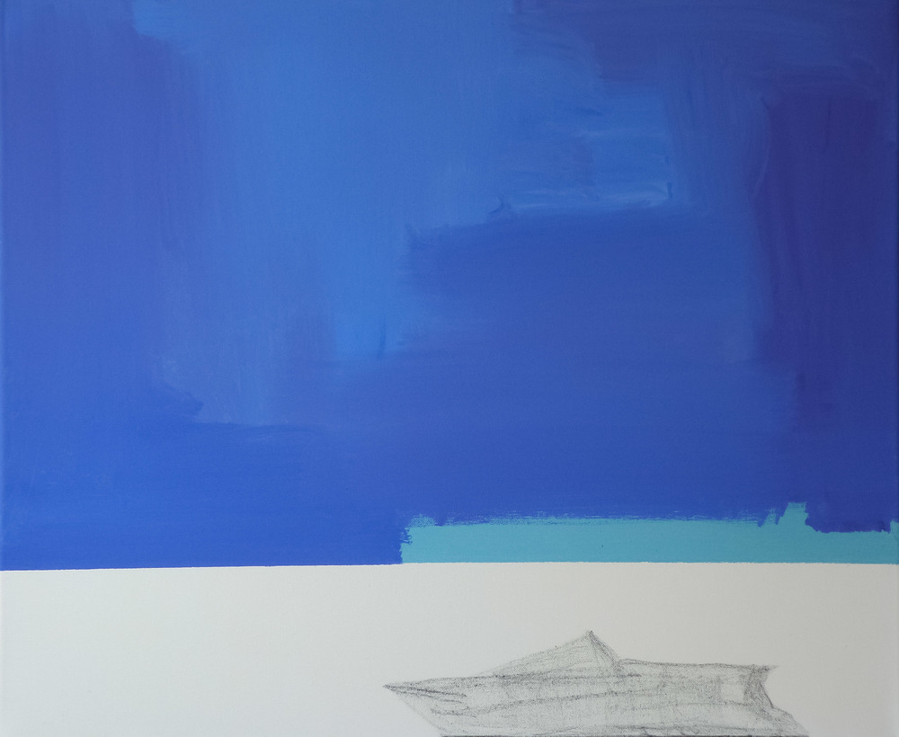 Illusione, 2011, olio e carboncino su tela, cm 50 x 60