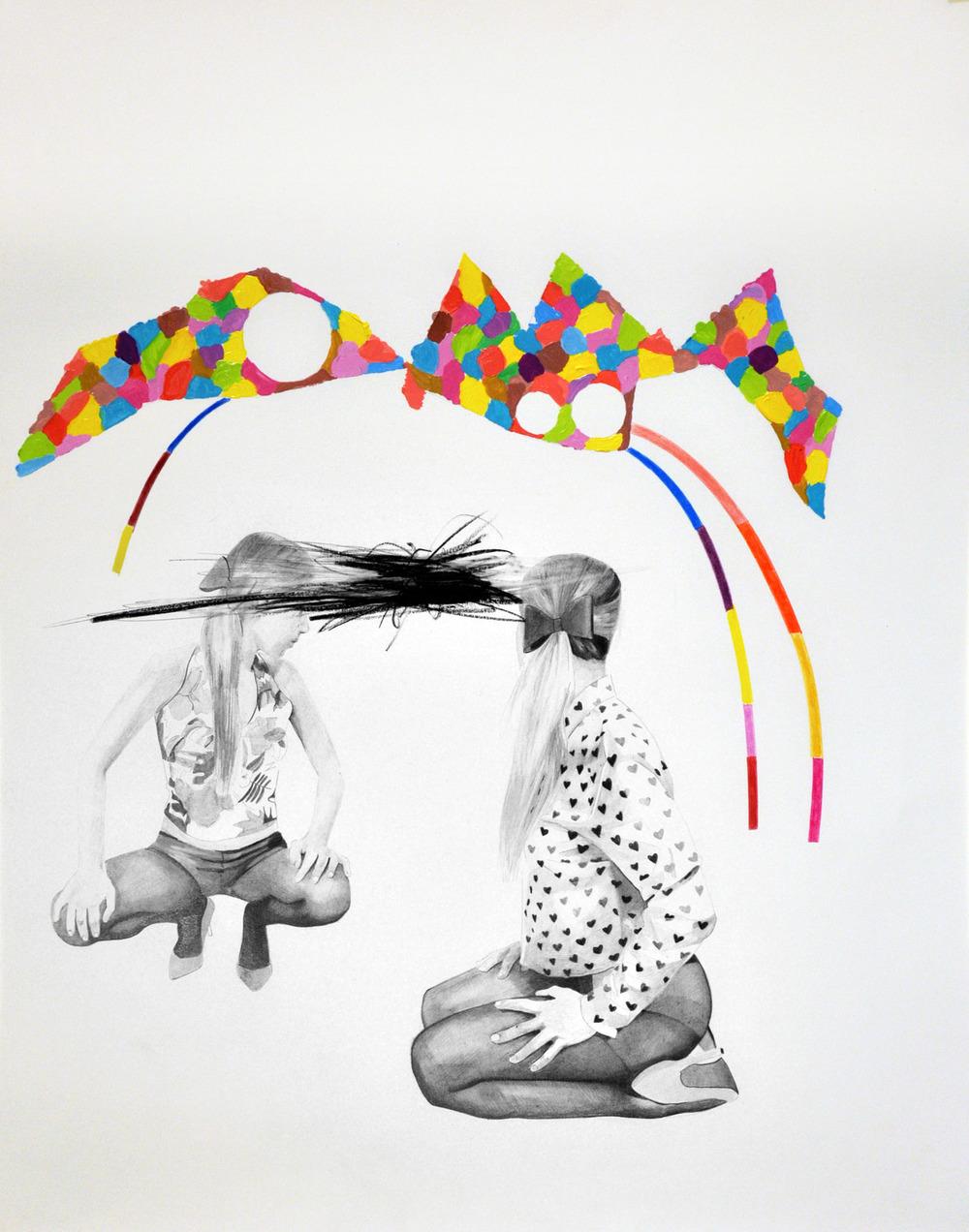 Landscape#12 matita, matite colorate e acrilico su carta, cm 40x50, 2015