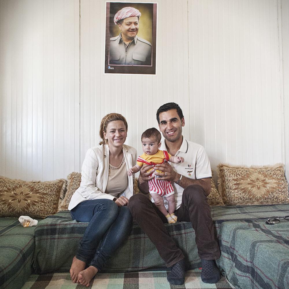 Famiglia Siriana, Campo rifugiati Basirma, Iraq, 2014