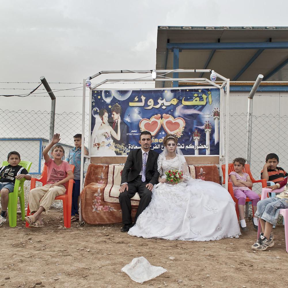 Matrimonio Siriano, Campo rifugiati Qushtapa, Iraq, 2014