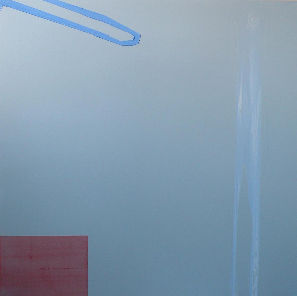 Stagione, 2014, olio e carboncino su tela, cm 80 x 80