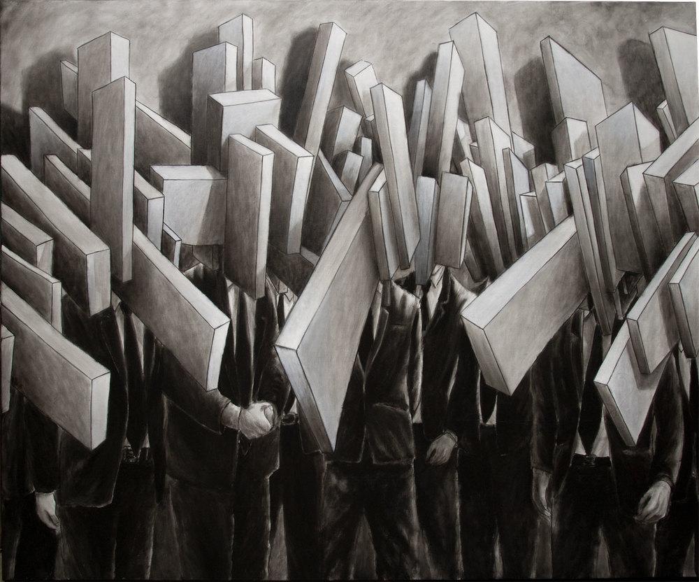 'BH #6', olio su tela, cm 120 x 150, 2013