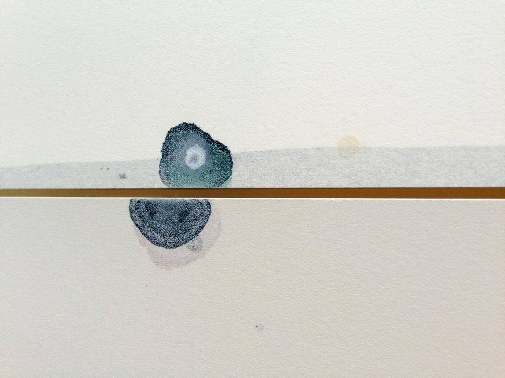 Empty Line - Porta: tempera e olio su carta, cm40x30