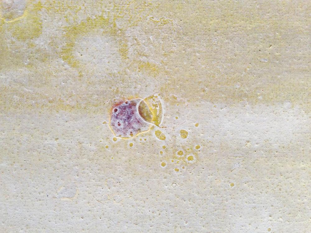 Le due lune.III (particolare): tempera e olio su tela, cm14x18