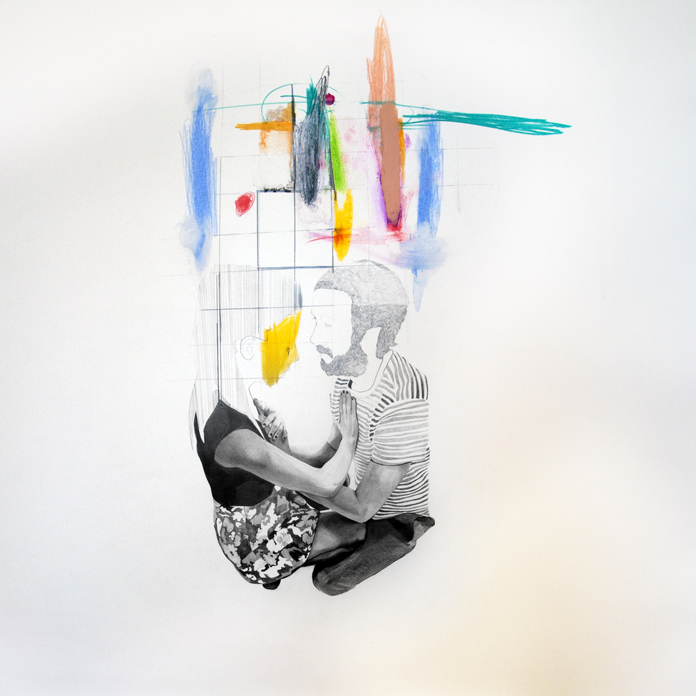 MILLIMETRI (sensazioni di cose minime) #3, tecnica necessaria su carta-matita e pastelli a olio, mm750x750, 2015