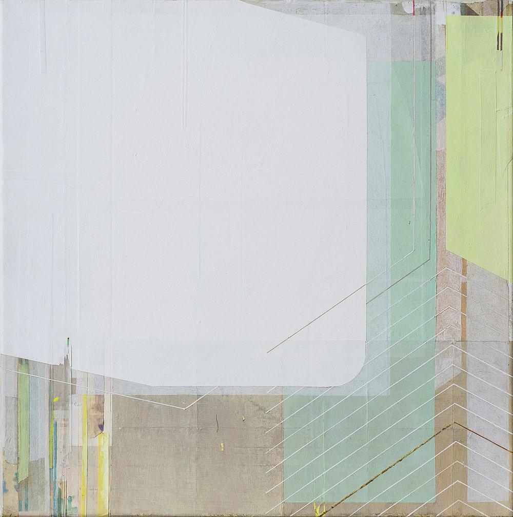Vertical Hysteria, 2014, tecnica mista su tela, 30x30 cm