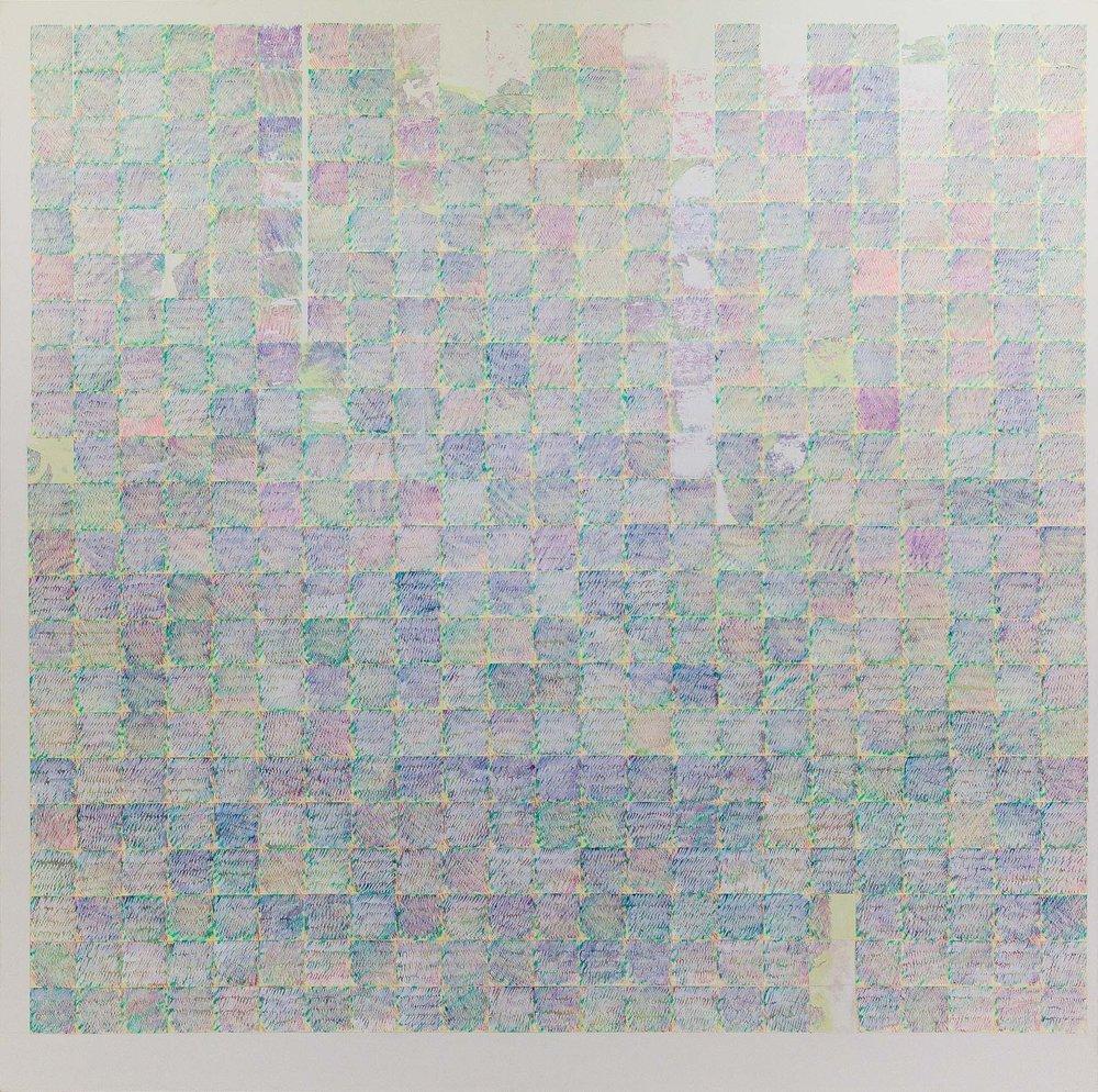 Ride to Me #3, 2016, tecnica mista su tela, 180x180 cm