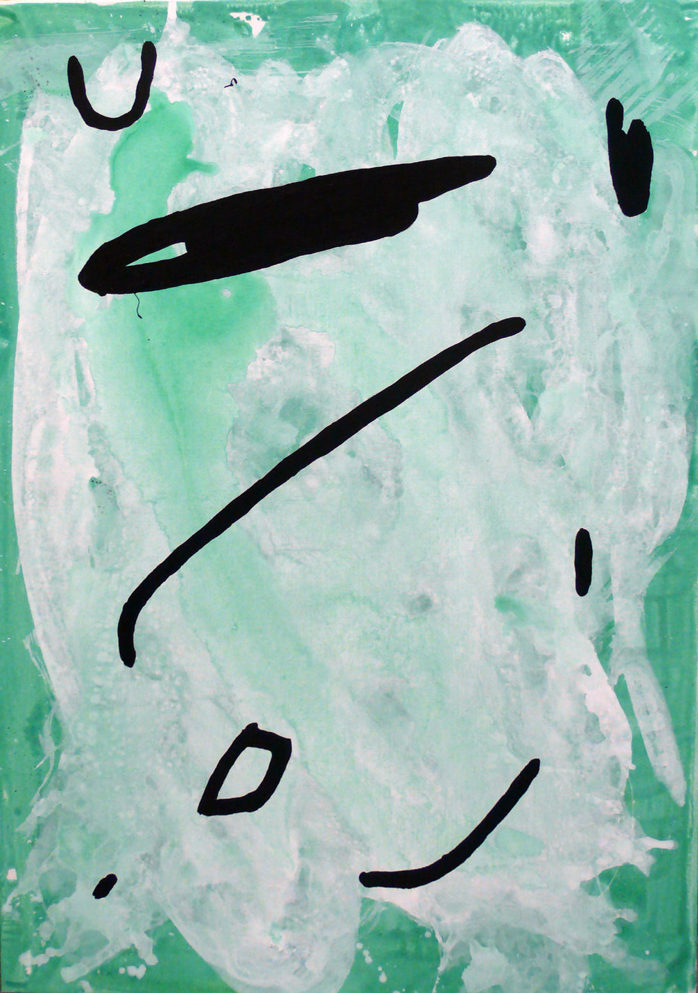 Senza titolo, 2016, tecnica mista su tela, 100x70cm
