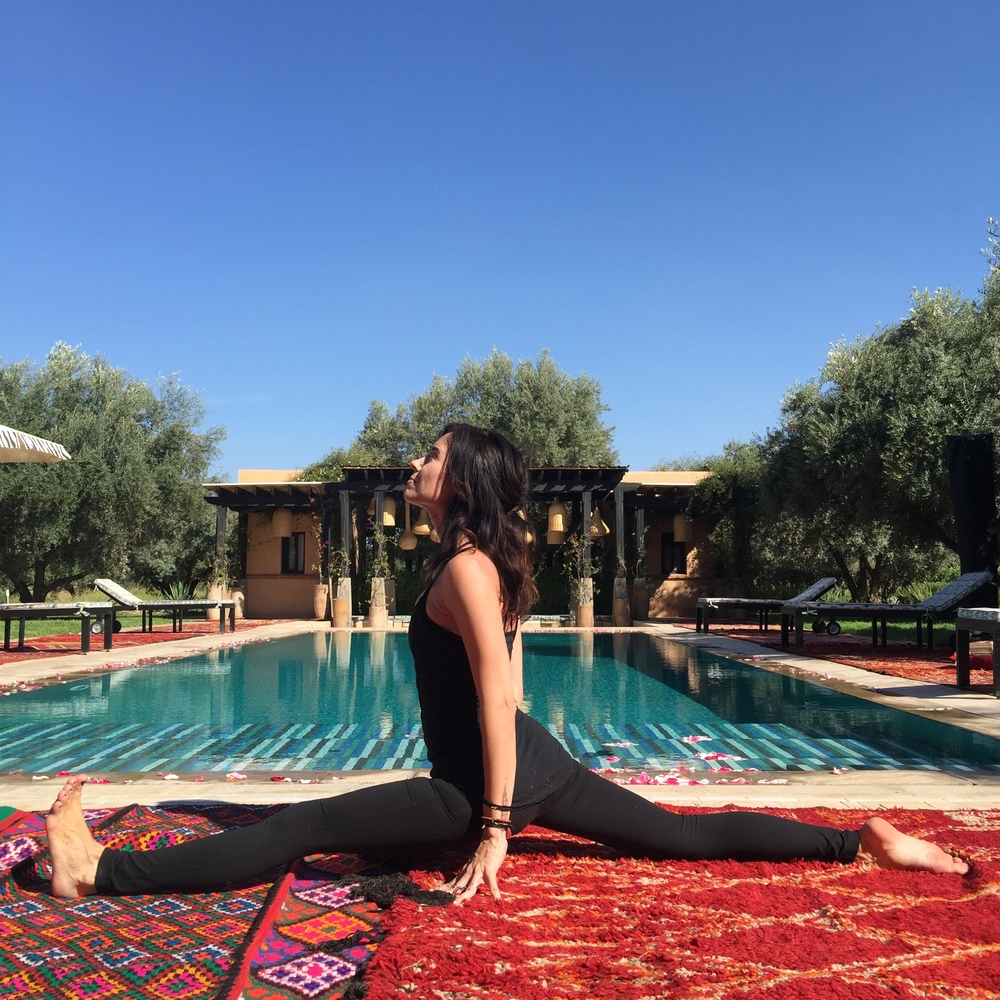 Yoga by the Pool Peacock Pavilions  | EAT.PRAY.MOVE Yoga Retreat | Marrakesh, Morocco