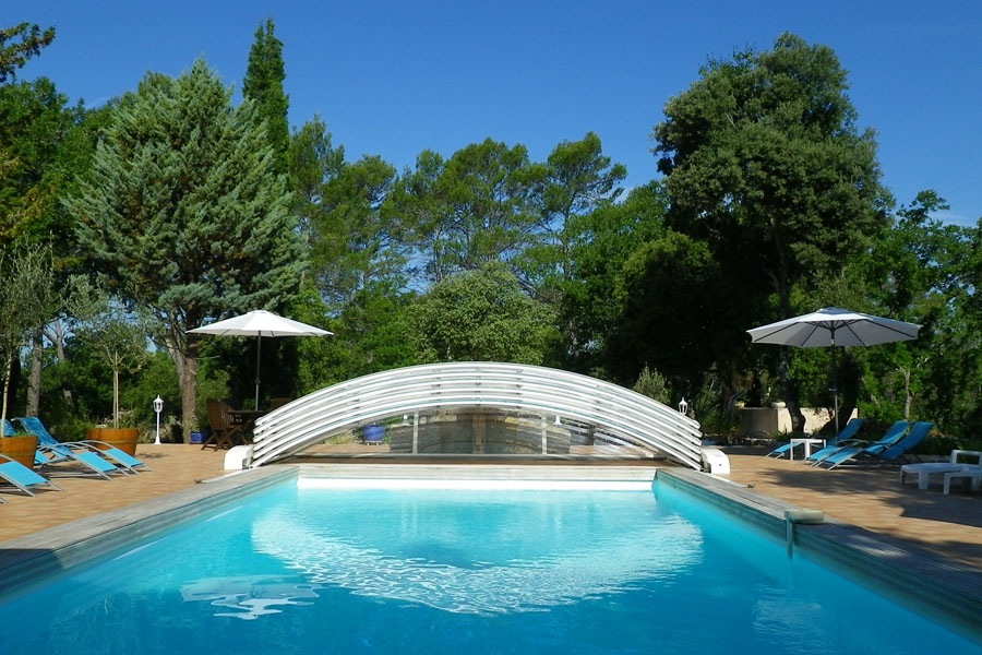 From the pool Bastide Avellanne | EAT.PRAY.MOVE Yoga Retreats | Provence, France