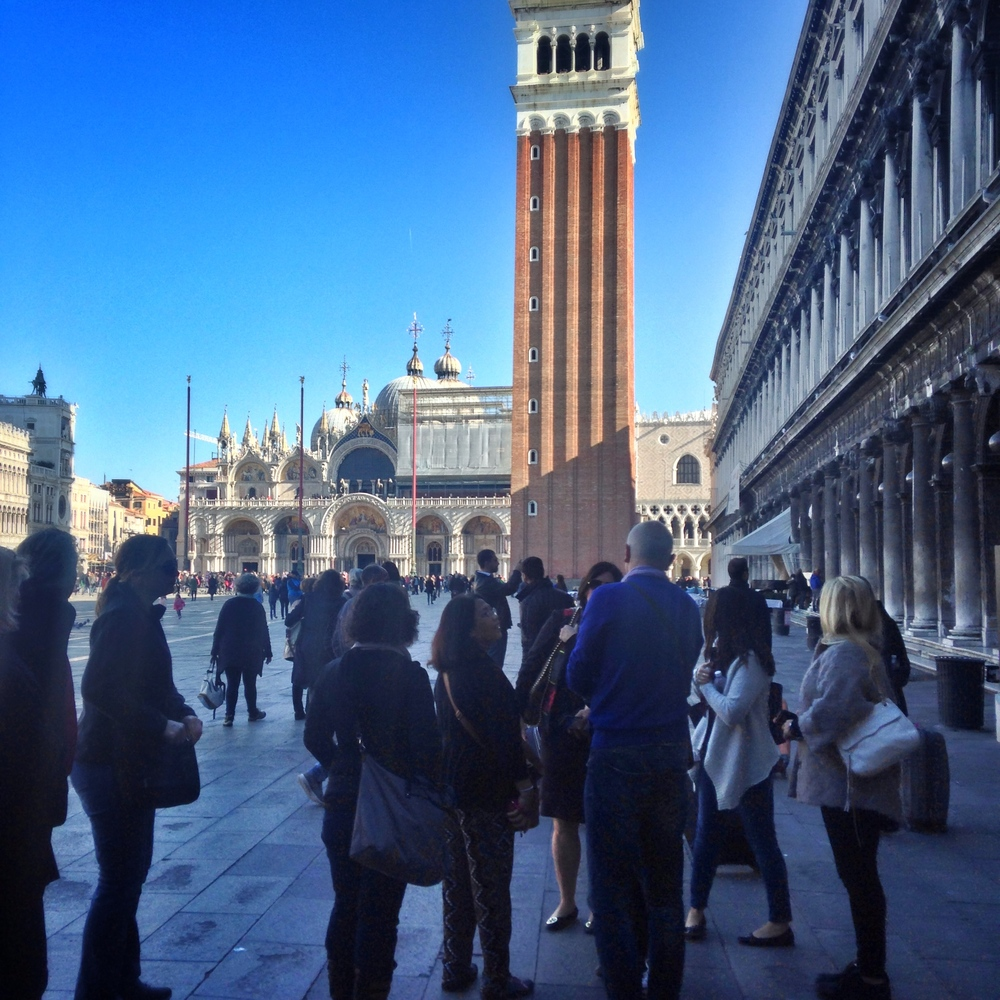 Group tour of the Piazza | EAT.PRAY.MOVE Yoga | Venice, Italy