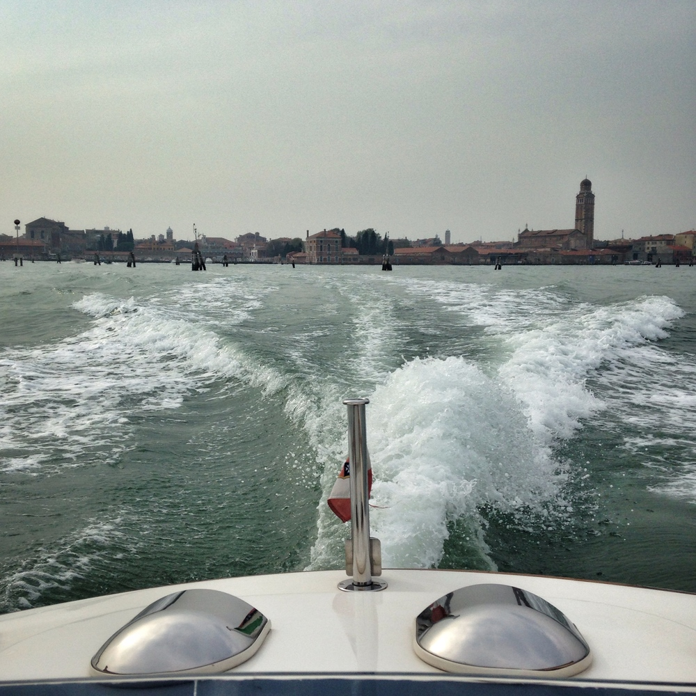 Back of the boat views | EAT.PRAY.MOVE Yoga | Venice, Italy
