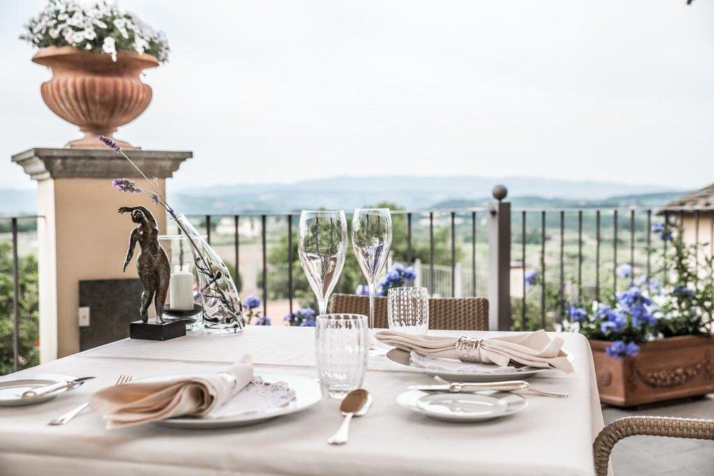 Drink your wine by the vineyards Castello del Nero | EAT.PRAY.MOVE Yoga | Chianti, Italy