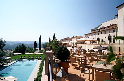 A view of the grounds Castello del Nero | EAT.PRAY.MOVE Yoga | Chianti, Italy