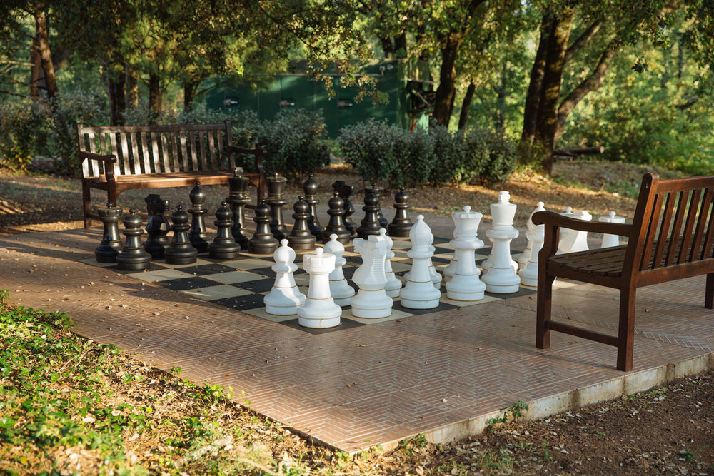 Oversized chess court Bastide Avellanne | EAT.PRAY.MOVE Yoga Retreats | Provence, France