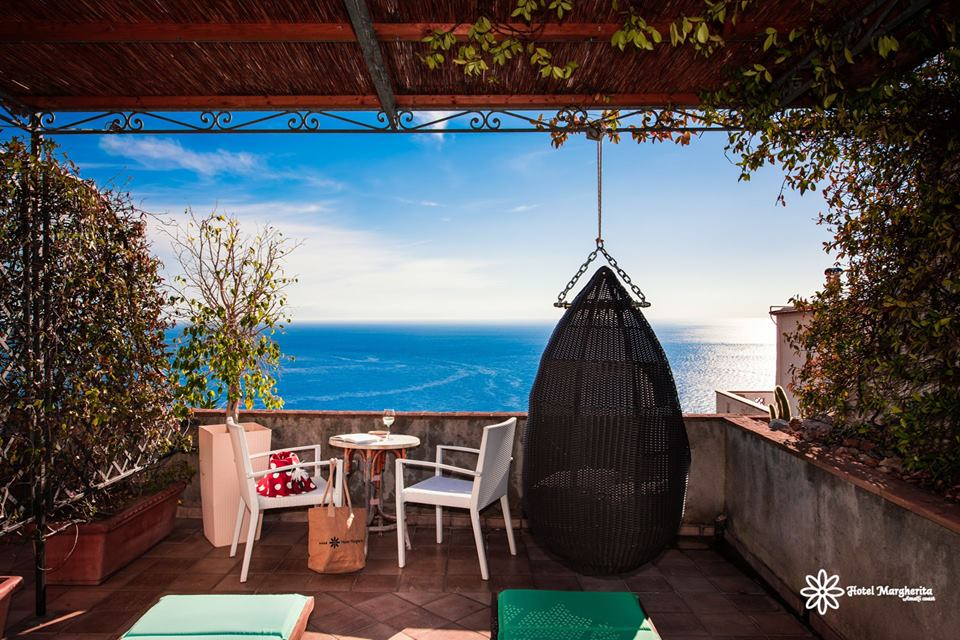 Ocean as far as you can see Hotel Margherita EAT.PRAY.MOVE Yoga Retreats | Amalfi Coast, Italy