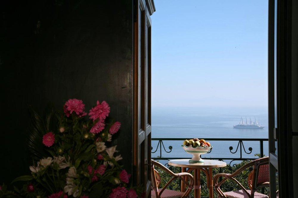 View from the window Hotel Margherita EAT.PRAY.MOVE Yoga Retreats | Amalfi Coast, Italy