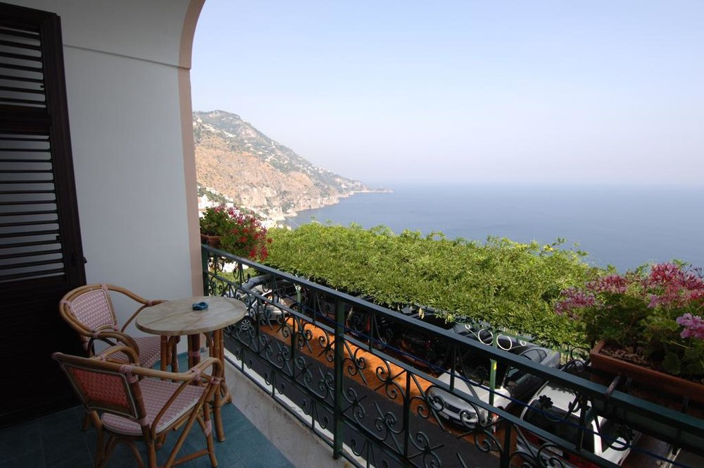 Balcony view from the hotel Hotel Margherita EAT.PRAY.MOVE Yoga Retreats | Amalfi Coast, Italy