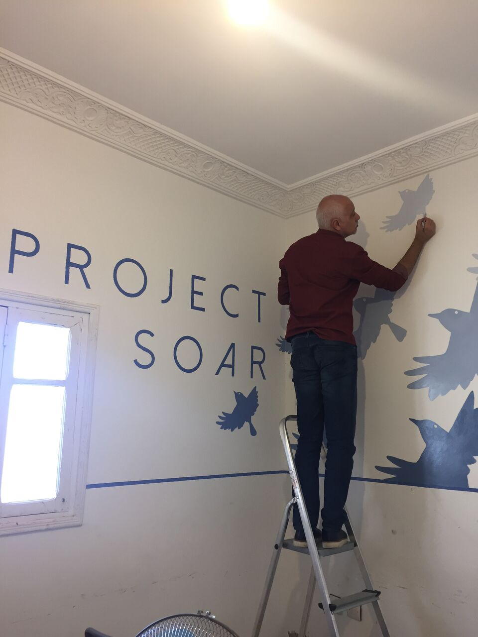 painting | Project Soar | give back | EAT.PRAY.MOVE Yoga Retreats | Marrakesh, Morocco