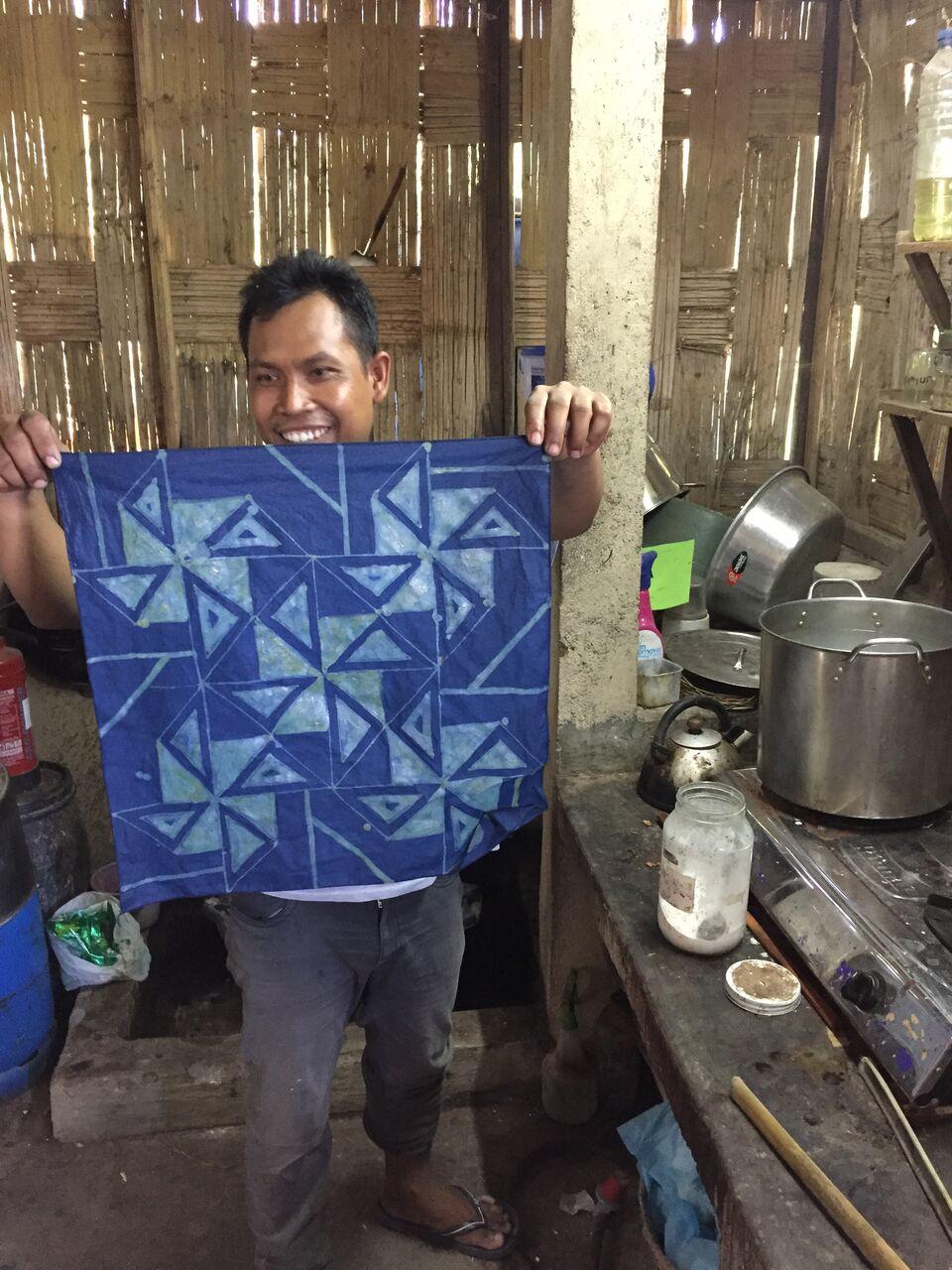 finished batik | Threads of Life | give back | EAT.PRAY.MOVE Yoga Retreats | Bali