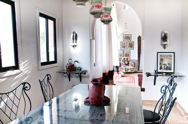 Medina Dining Room Peacock Pavilions EAT.PRAY.MOVE Yoga Retreats | Marrakesh, Morocco