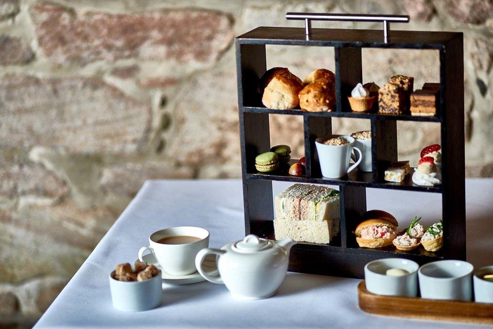 Afternoon tea spread Dalhousie Castle | EAT.PRAY.MOVE Yoga | Edinburgh, Scotland