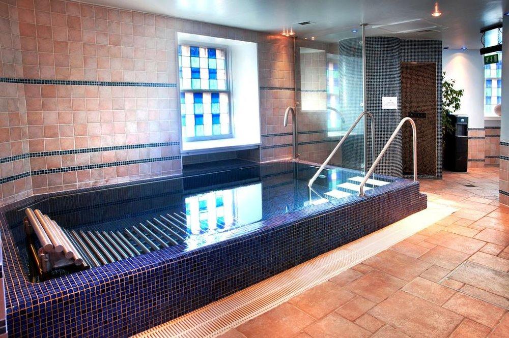 Spa water features Dalhousie Castle | EAT.PRAY.MOVE Yoga | Edinburgh, Scotland