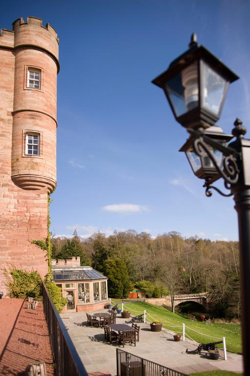 Gaslight over the castle Dalhousie Castle | EAT.PRAY.MOVE Yoga | Edinburgh, Scotland
